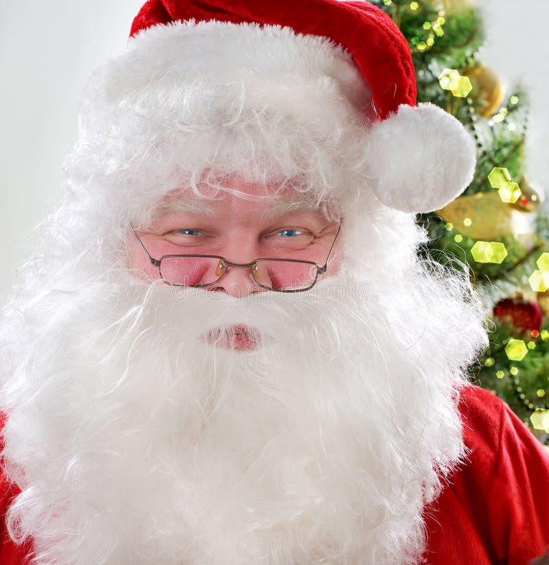 Santa Claus. Close-up portrait of smiling Santa Claus royalty free stock photography
