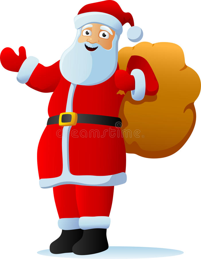 Download Santa claus stock vector. Image of cheerful, year, costume - 22330173