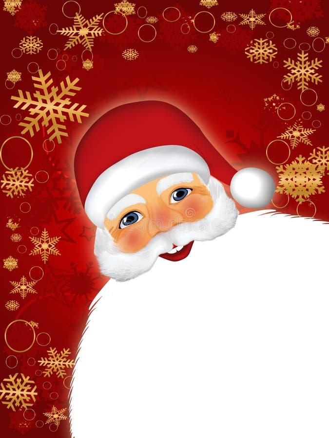 Santa Claus. Christmas background with Santa Claus stock illustration