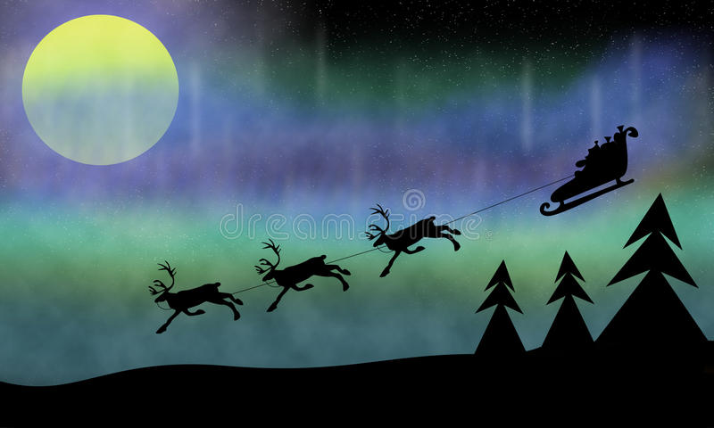 Download Santa-claus stock illustration. Illustration of northern - 25625682