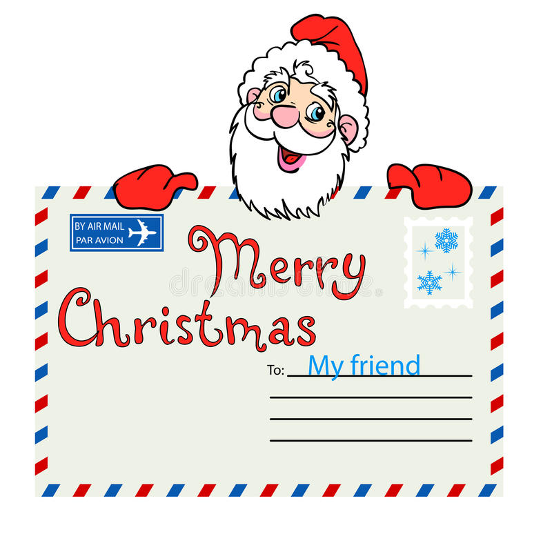 Santa Claus. Holds a mailing envelope with seal. Vector illustration vector illustration