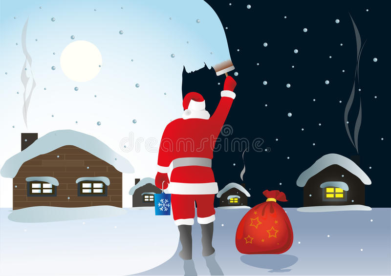 Download Santa Claus stock image. Image of lapland, fence, tree - 27758859