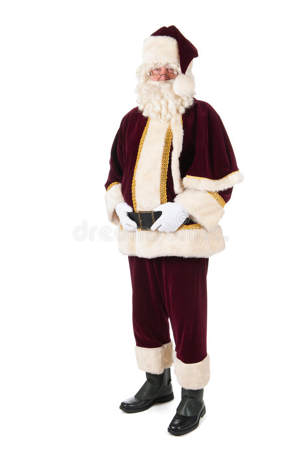 Santa Claus. The real Santa Claus with big belly royalty free stock photo