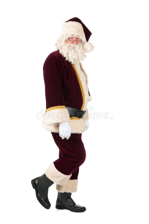 Santa Claus. The real Santa Claus walking in studio stock photography