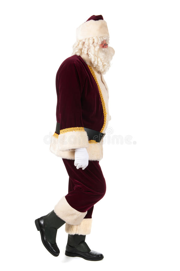 Santa Claus. The real Santa Claus walking by in studio royalty free stock image