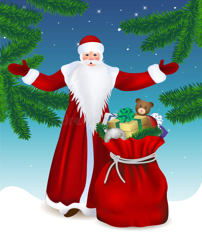 Santa Claus vektor illustrationer