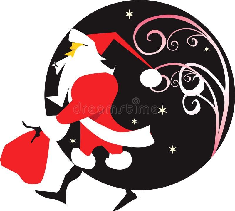 Santa Claus vektor illustrationer