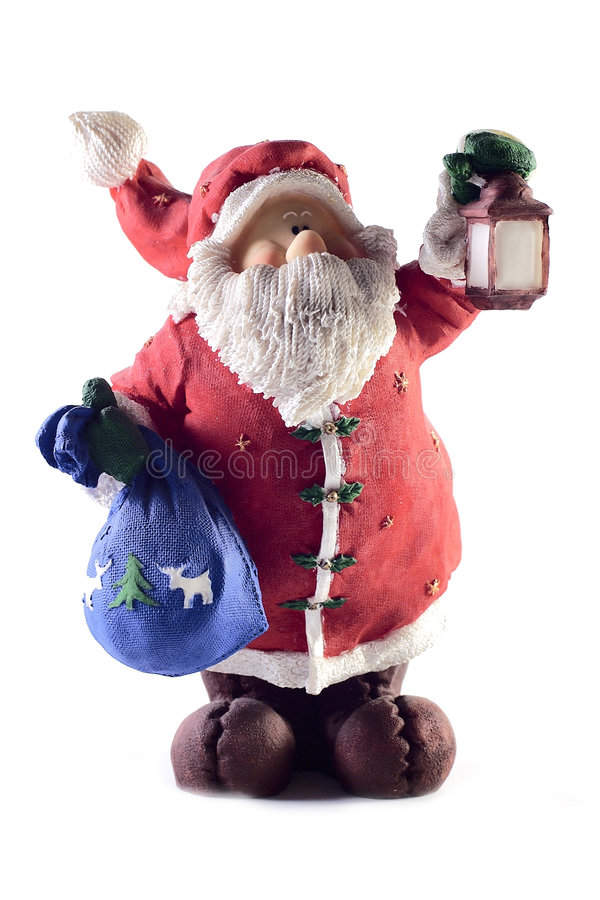 Download Santa Claus stock photo. Image of isolated, figurine, christmas - 45280