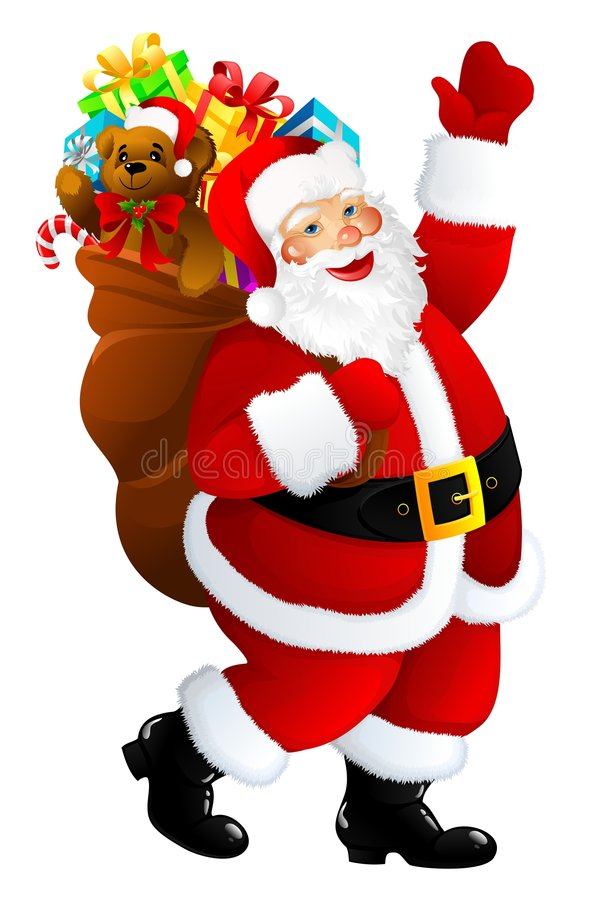 Santa Claus. Illustration of Santa Claus with presents