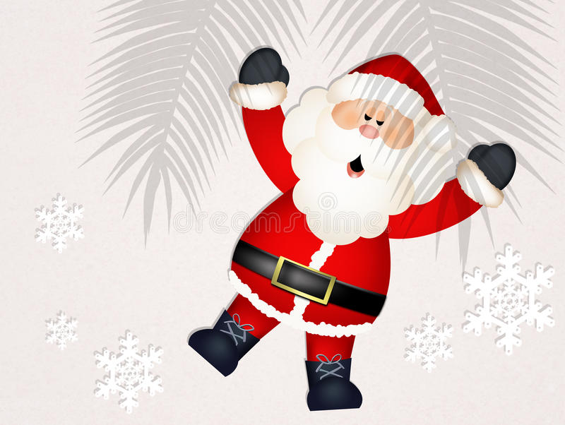 Santa Claus adentro se relaja stock de ilustración
