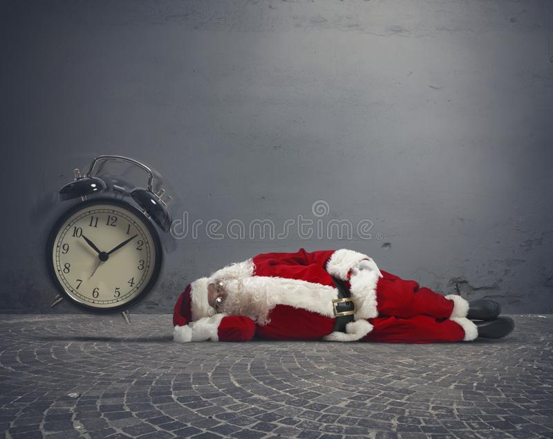 Santa Claus adormecida imagens de stock royalty free