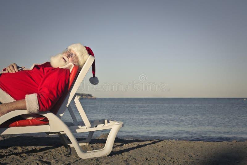 Santa Claus adormecida fotos de stock