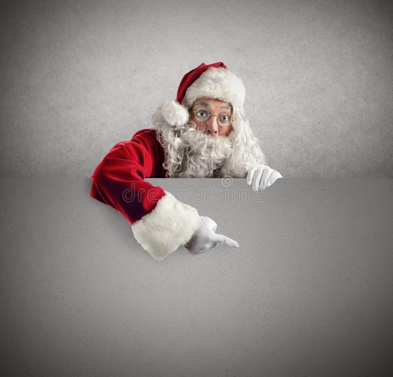 Santa Claus affisch royaltyfria bilder