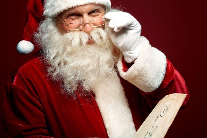 Santa Claus aimable photographie stock libre de droits