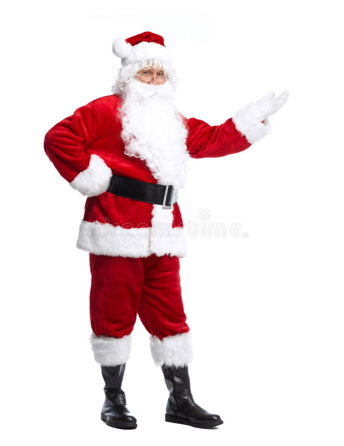 Santa Claus aisló en blanco. imagenes de archivo
