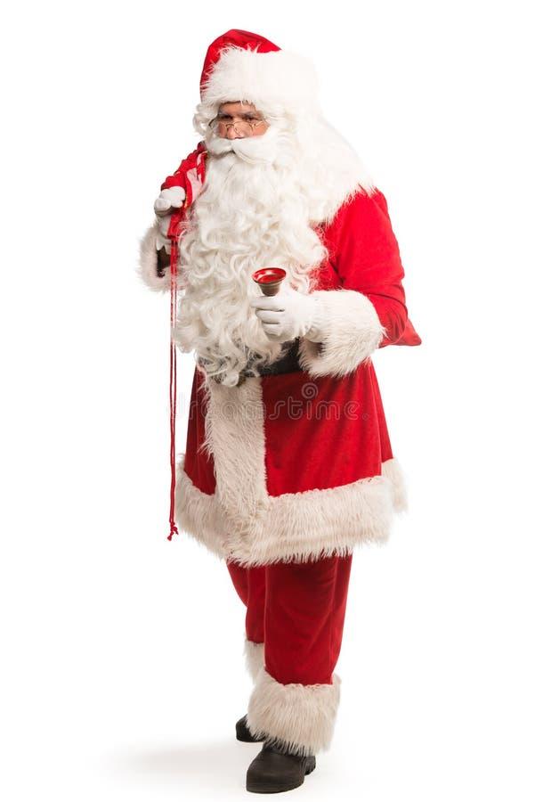 Santa Claus aisló en el fondo blanco, con la trayectoria del trabajo incluida para el aislamiento fácil fotografía de archivo
