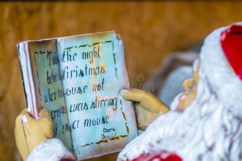 Reading Santa stock images