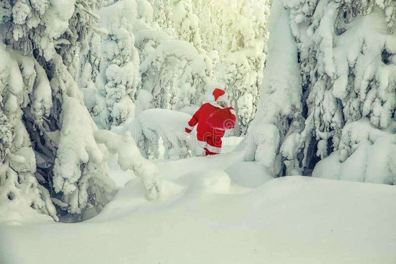 Santa Claus autêntica em Lapland fotos de stock