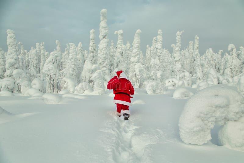 Santa Claus autentica in Lapponia fotografie stock
