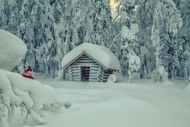 Santa Claus authentique en Laponie images stock