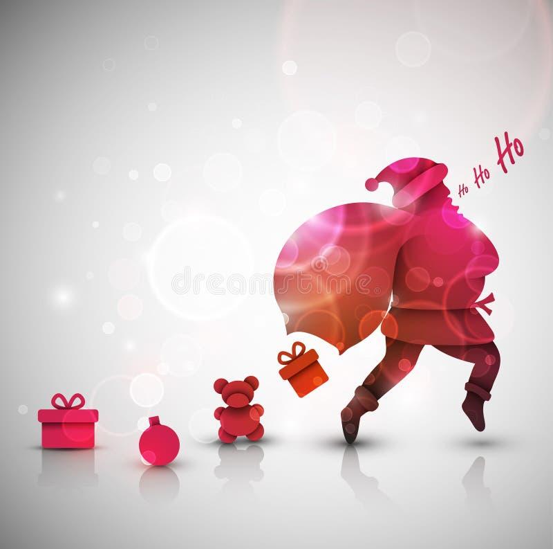 Santa Claus avec des cadeaux illustration libre de droits
