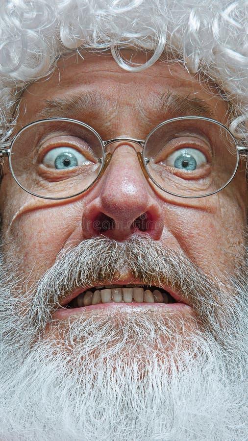 Santa Claus avec l'expression étonnée image stock