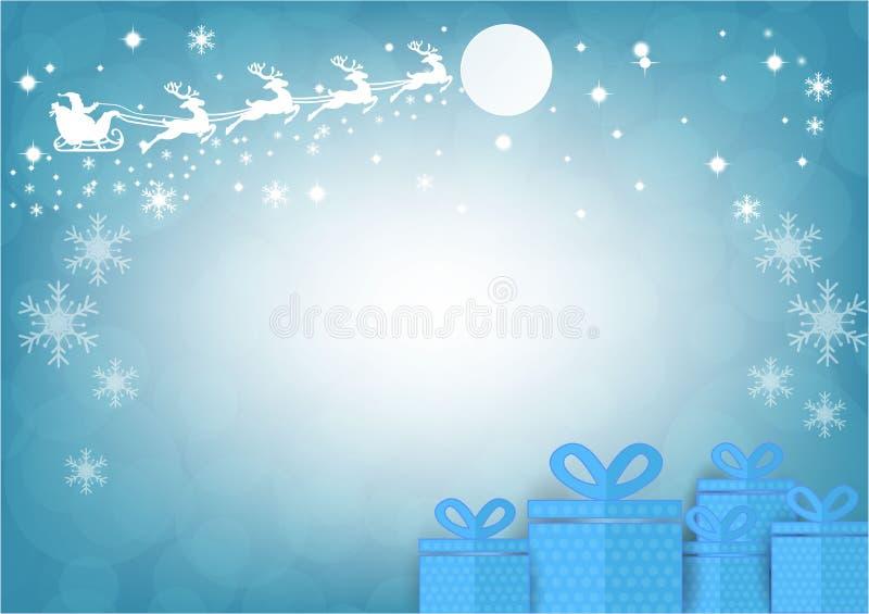 Santa Claus avec le fond de bokeh de tache floue Saison de Noël Illustration de vecteur illustration de vecteur