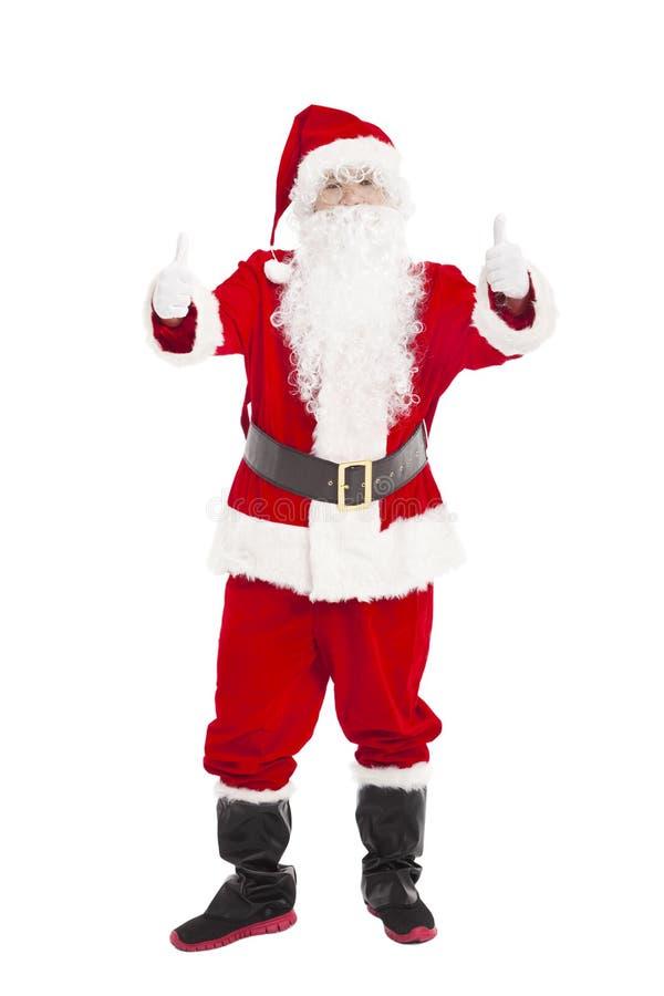 Santa Claus avec le pouce  image stock