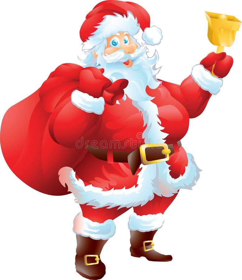 Santa Claus avec le sac de Noël illustration libre de droits