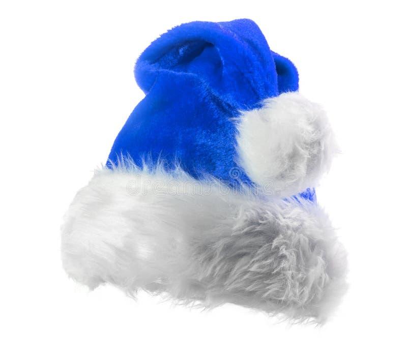 Santa Claus błękita kapelusz zdjęcia royalty free