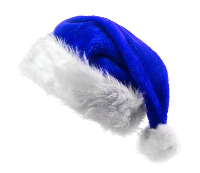 Santa Claus błękita kapelusz obrazy stock