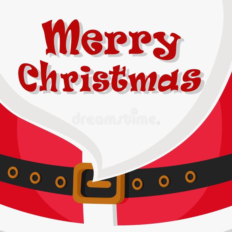 Santa Claus-baardclose-up vector illustratie