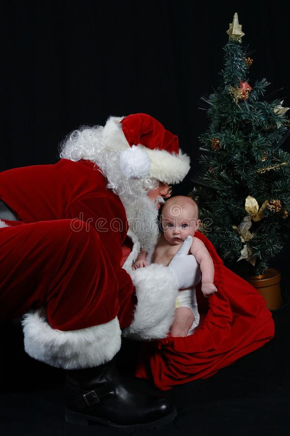 Santa Claus and Baby stock photography
