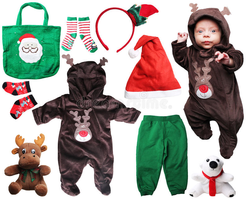Santa claus baby things for Christmas royalty free stock photo