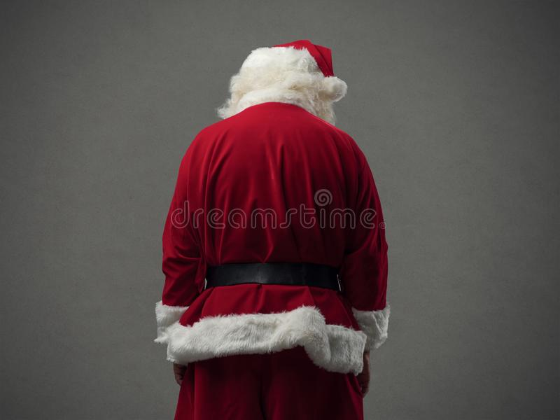 Santa Claus back view royalty free stock images