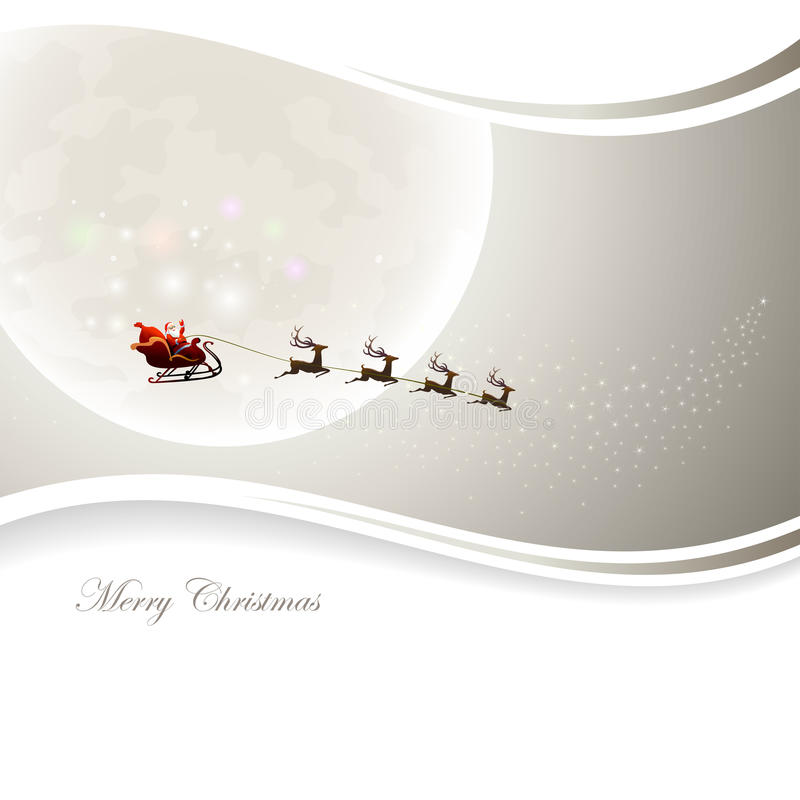 Santa Claus Background illustrazione vettoriale