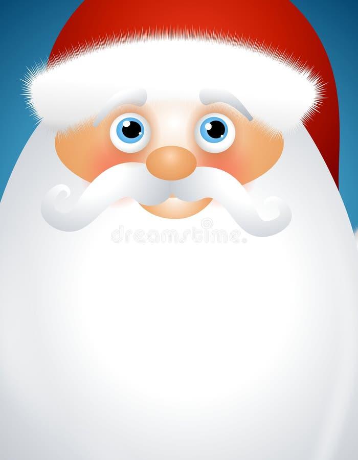 Santa Claus Background. An illustration featuring a Santa Claus with beard for use as background space stock illustration
