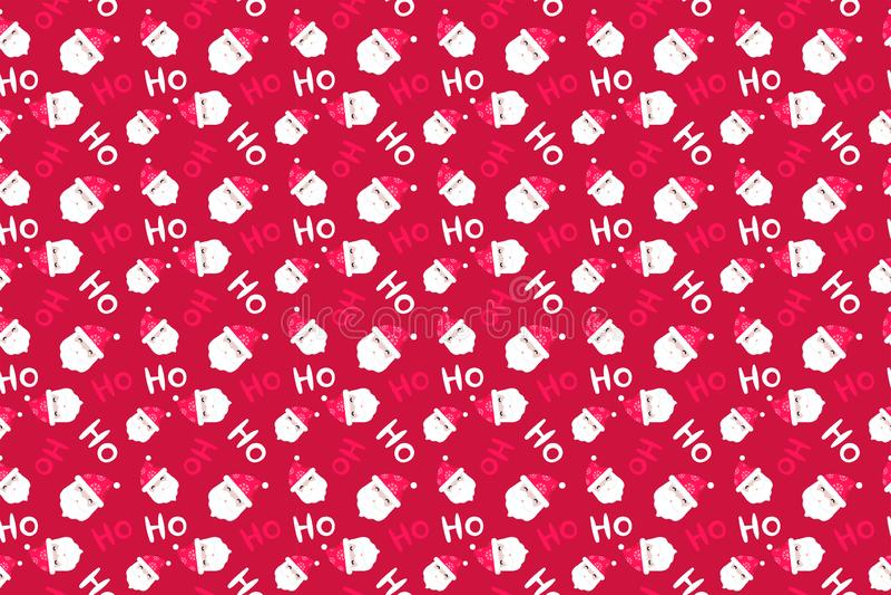 Santa Claus Background Il Buon Natale modella senza cuciture fotografia stock libera da diritti