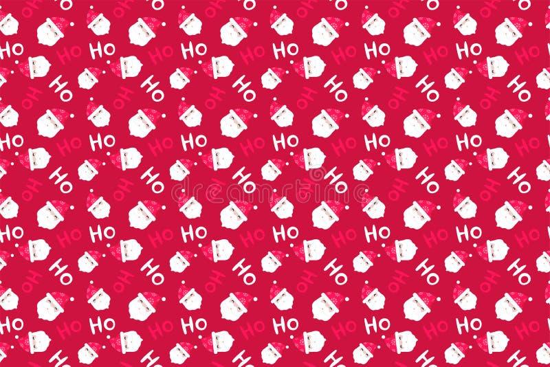 Santa Claus Background Modelo de la Feliz Navidad inconsútil foto de archivo libre de regalías
