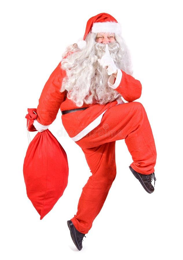 Santa Claus with bag stock photos