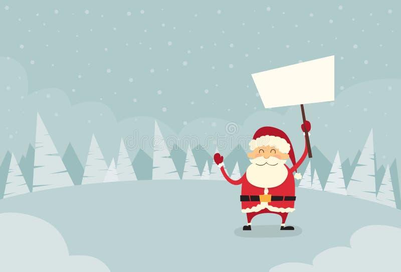Santa Claus Banner, weißer Zeichen-Brett-freier Raum leer lizenzfreie abbildung