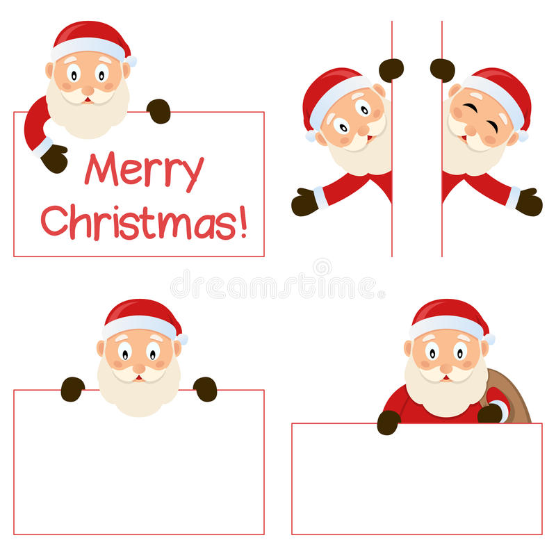 Download Santa Claus And Banners Set Stock Vector - Image: 35098365