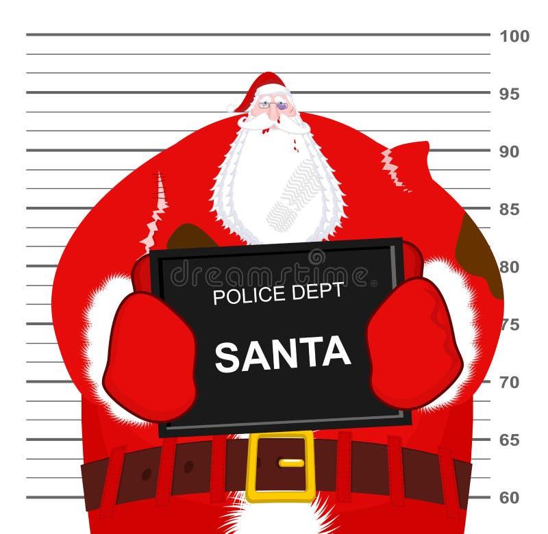 Santa Claus batida en el Departamento de Policía Lucha de la Navidad Mún Sa libre illustration