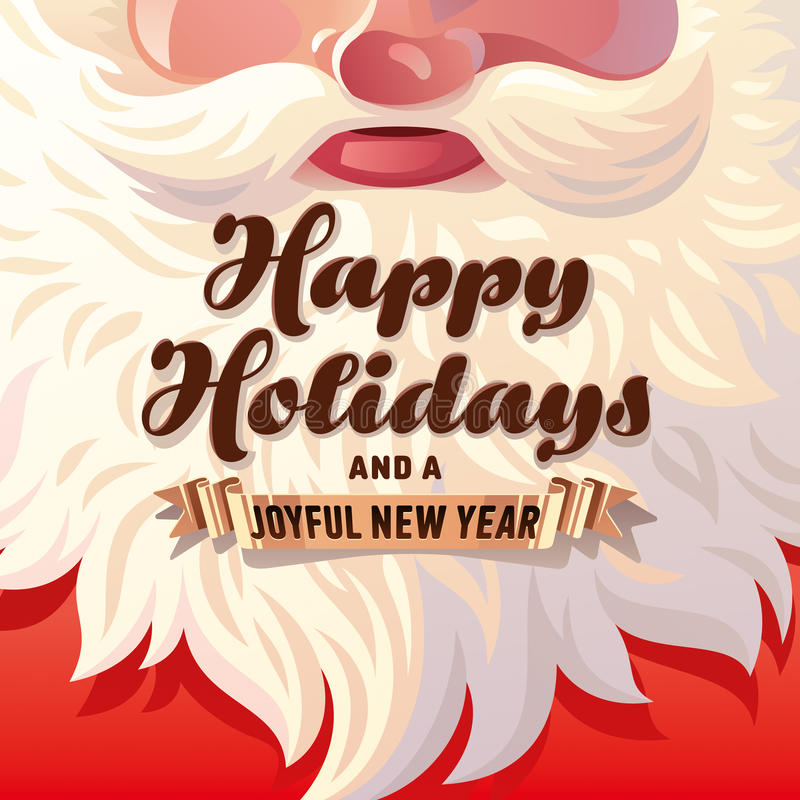 Santa Claus Beard Card ilustração do vetor