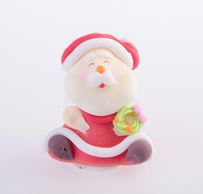 Santa Claus-beeldje op achtergrond royalty-vrije stock foto's