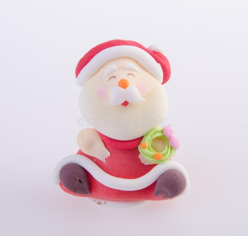 Santa Claus-beeldje op achtergrond royalty-vrije stock foto