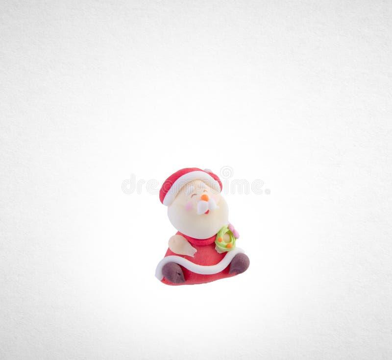 Santa Claus-beeldje of Santa Claus op een achtergrond stock foto's