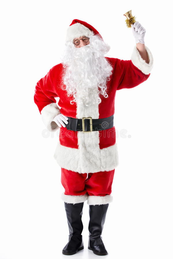 Download Santa Claus with a bell stock image. Image of holiday - 21475857
