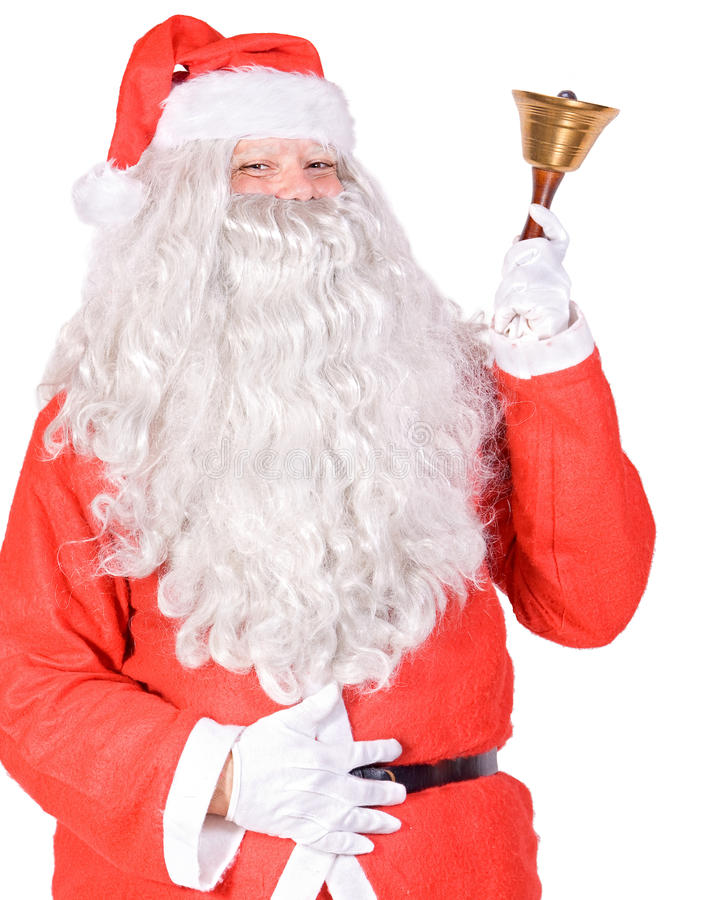 Download Santa Claus with bell stock photo. Image of white, noel - 27427212