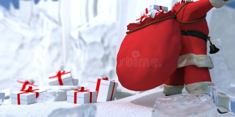 Santa claus biegun północny ilustracji